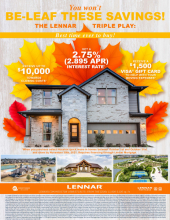 You Won't Be-Leaf These Savings with Lennar!